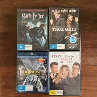 DVDs and Blu Ray Bundle