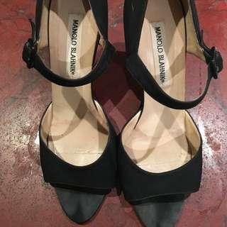 Used Manolo Blahnik Strapped Sandal Heel