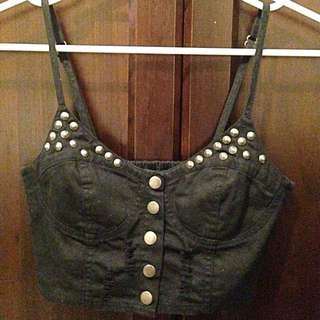 Studded Crop Top