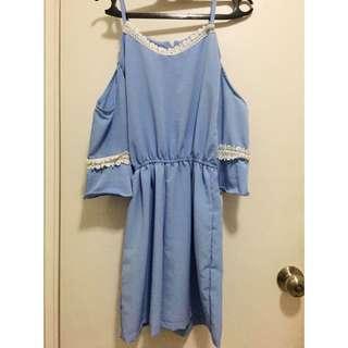 Sabrina Blue Jumpsuit / Soft Blue Jumpsuit