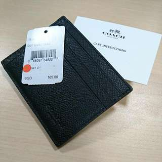 Coach crossgrain leather card case genuine authentic brand new Model 75098