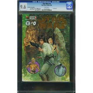 Dark Horse Comics Star Wars #0 Another Universe Edition Gold Foil Cover Rare CGC 9.6 NM+ White Pages