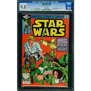 Marvel Comics Star Wars #38 CGC 9.8 White Pages Highest Graded Michael Golden Cover & Art