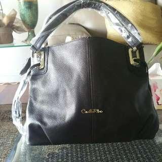 Carlo Rino Brown Handbag