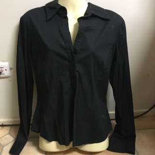 Long Sleeve Black Work Short