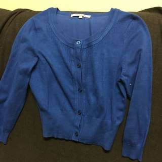 Review Blue Cardigan