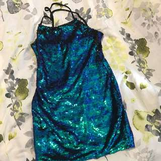 Sequinned Mini dress. Perfect for A Festival