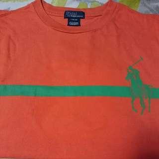 Orange And Green Polo Ralph Lauren Crew Neck Shirt