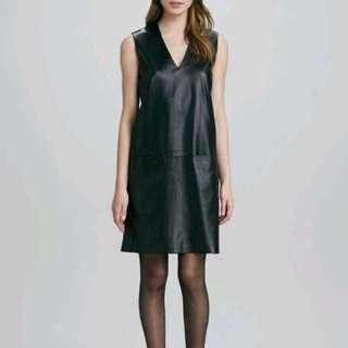 Vince. Black Leather Dress