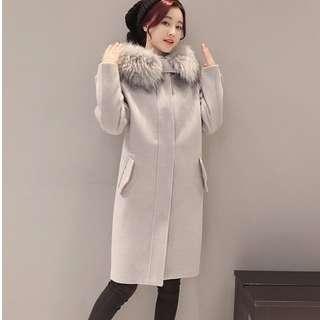 Lovely Hooded Fur Coat