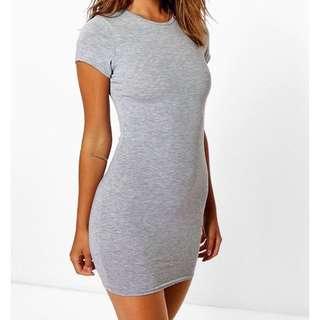Boohoo Petite Bodycon Grey Dress