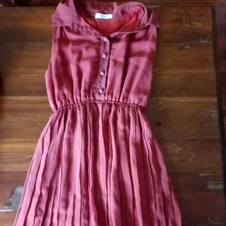 Pleated Casual Dress