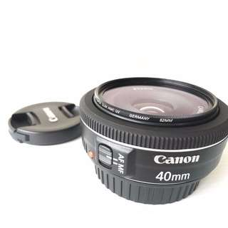 Canon EF 40mm f/2.8 STM lens (with filter)