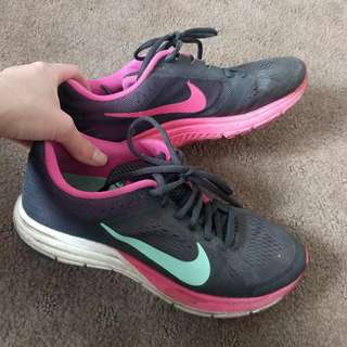 Nike Zoom Structure 17 Size 7.5 Women's Black Pink Teal Aqua Running Shoe