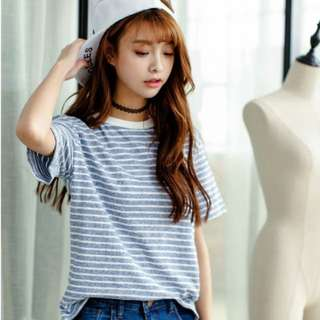 Stripes T-shirt In Blue