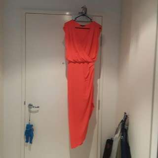 Sheike - Coral Colour Dress - Size 8