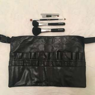 Make Up Pouch And Belt With Brushes