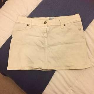 White SAS And Bide Skirt