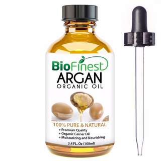 Biofinest Argan Oil for Hair, Face & Skin - 100% Pure, Natural, Cold Pressed - Certified Organic Virgin Oil From Morocco - Anti-Aging, Anti-Oxidant moisturizer - 100ml