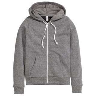 Grey Hooded Jacket Size XS AU 6 - 8