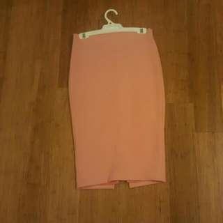 Peach Colour Skirt
