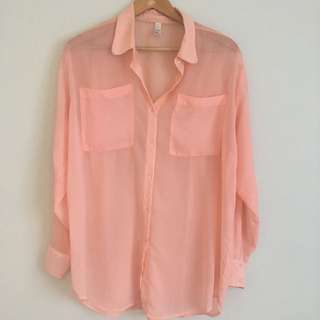 American Apparel Chiffon Shirt One Size