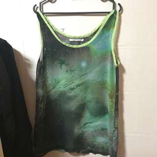 Galaxy print sleeveless top