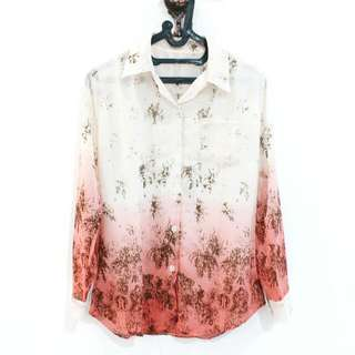 White Orange Abstrack Shirt