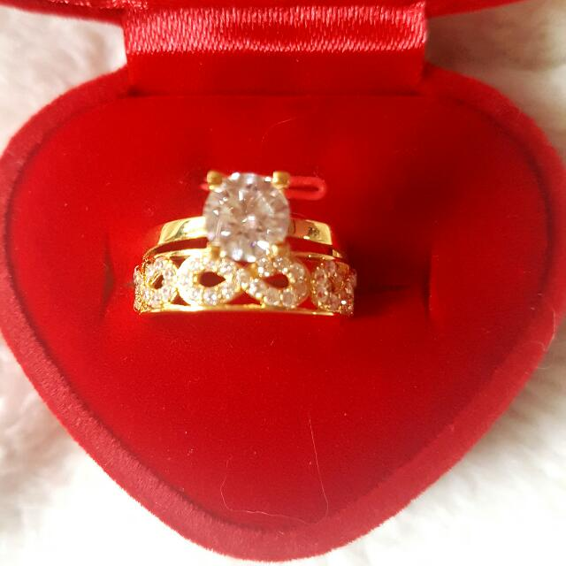 18karats Yellow Gold Ring Authentic And Pawnable