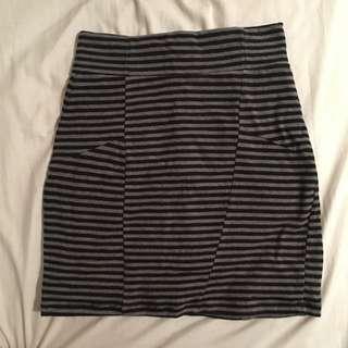 Stripped Jersey Skirt