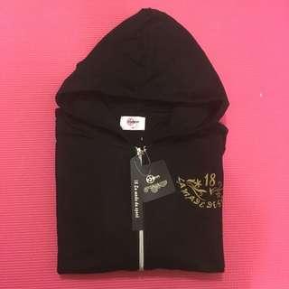 🚚 🙌出清🙌運動型拉鍊帽T外套-黑色