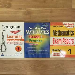 Sec 1 Normal Academic Mathematics Assessment Books (Selling As A Set)