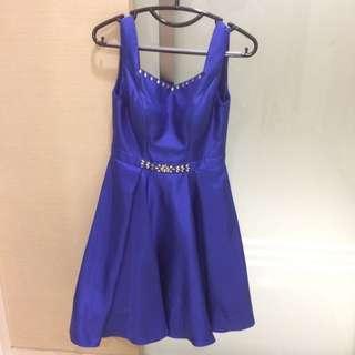 Blue Evening Dress Backless