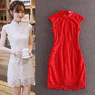 BMWT Lace Cheongsam Dress