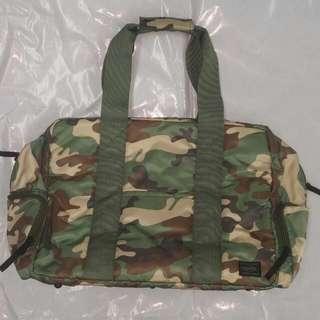 (大減價) head Porter 迷彩絹面2用袋