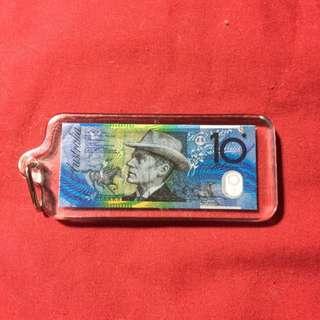 10 Dollar Note Keychain