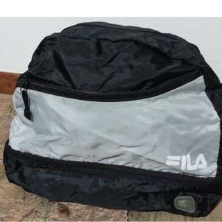LIGHTLY USED FILA gym bag with shoe compartment