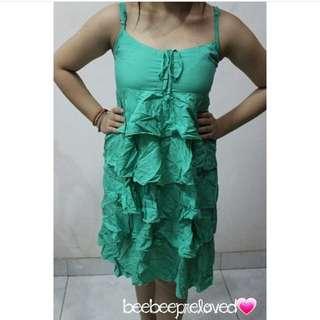 Ruffle Green Dress