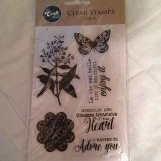 FREE SHIPPING* Clear Scrapbooking Stamps