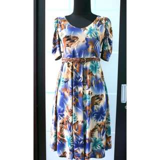 Abstract Blue Dress