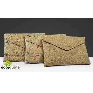 EcoQuote Envelope Design Bag Handmade Cork Material