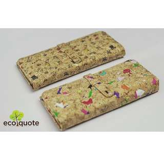 EcoQuote Long Wallet Bi Fold Handmade Material