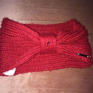 Red Crochet Headband