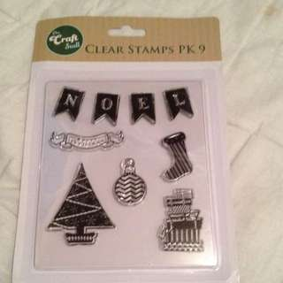 FREE SHIPPING* Christmas Clear Stamps