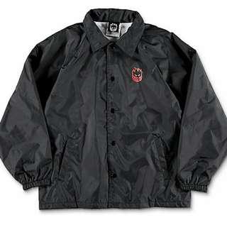 Spitfire Double Big Head Black Coaches Jacket