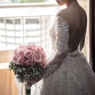 WEDDING GOWN CUSTOM MADE