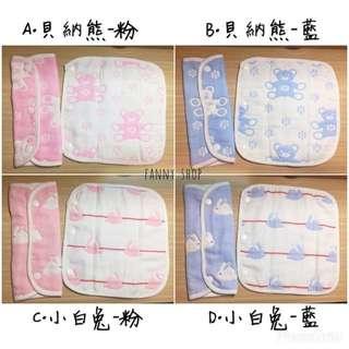 純棉六層紗布背帶口水巾