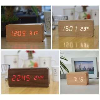 [BNIB] Digital Wooden Clock Scandinavian minimalist design