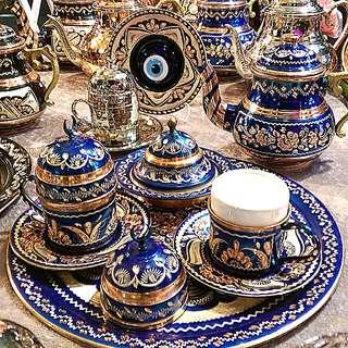 土耳其純銅製咖啡杯組