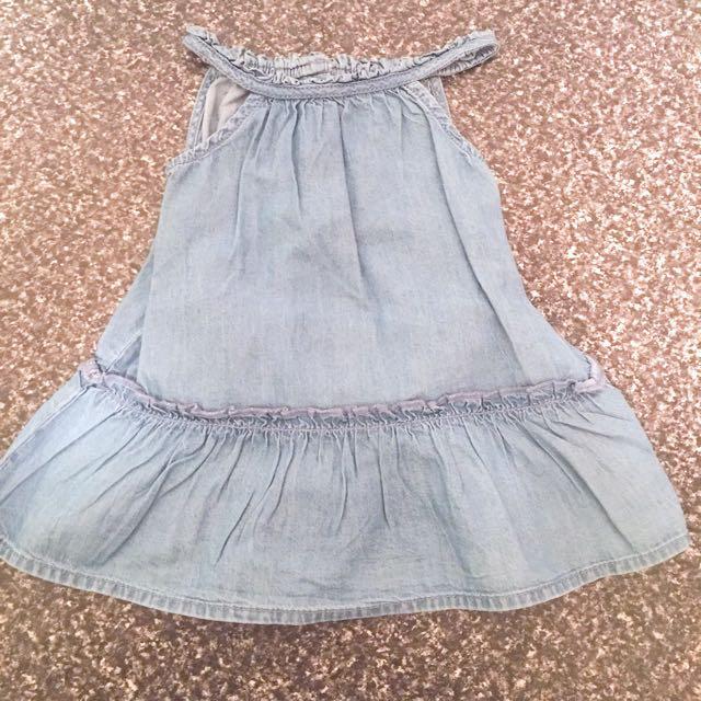 6-9mths (0) Denim Dress